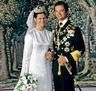 Silvia Sommerlath con el Rey Carlos XVI